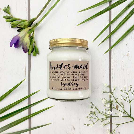 Bridesmaid Scented Candle