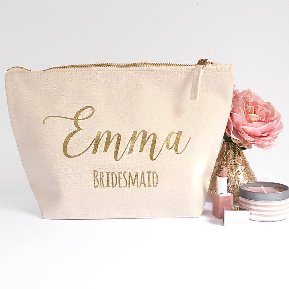 Bridesmaid Makeup Bag