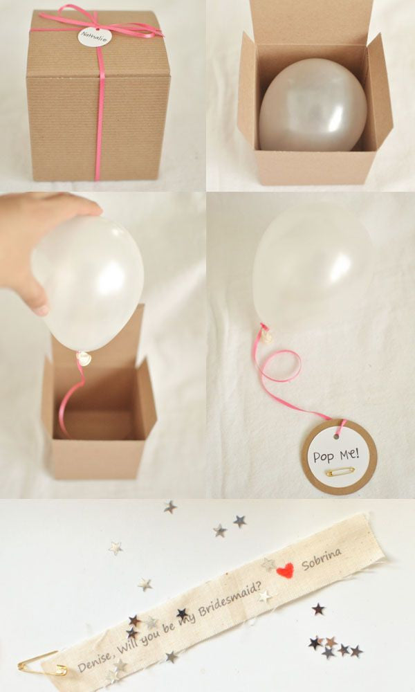 Bridesmaid Proposal Box with Balloon