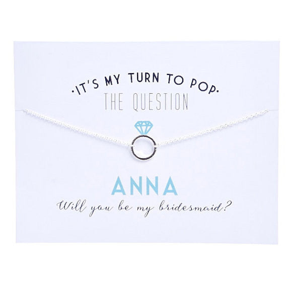 Bridesmaid Proposal Necklace