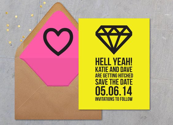 Bright Save-the-Date