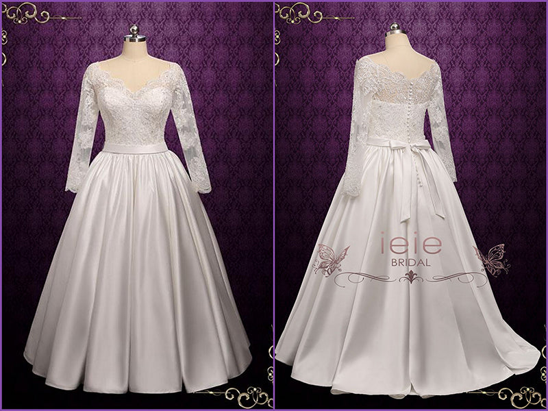 Classic Lace Ball Gown Wedding Dress