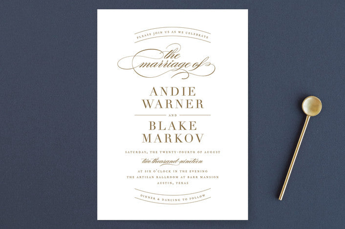 Ballet-inspired Wedding Invitation