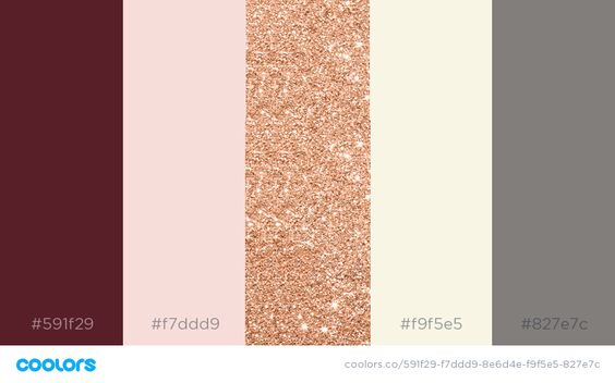 blush and burgundy color palette