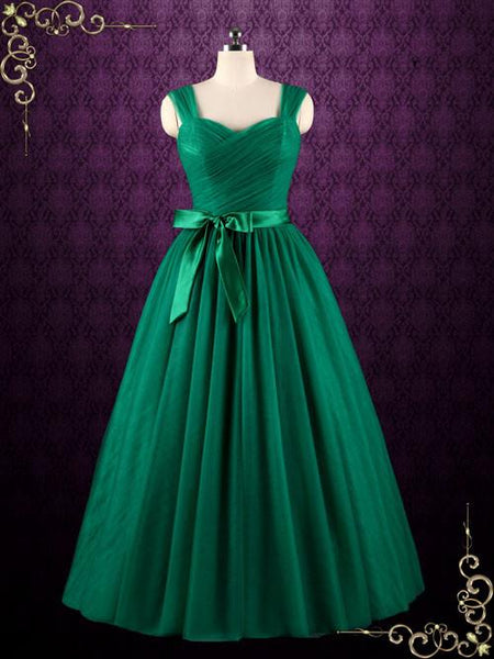 Green Tulle Ball Gown