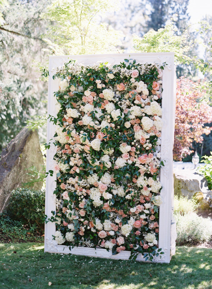 Floral Wedding Wall Backdrop
