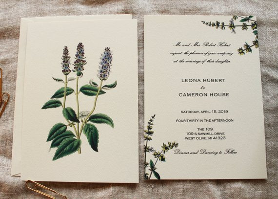 Herbal Wedding Invitation Suite