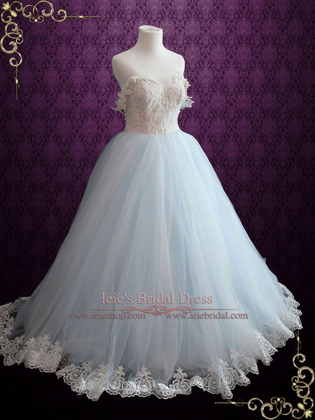 Blue Fairy Wedding Dress