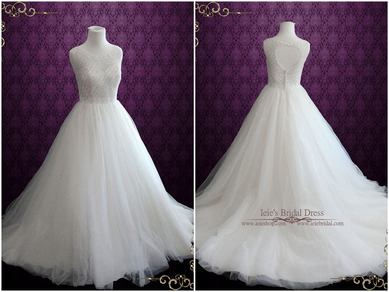 Ballgown Wedding Dress with Keyhole Back