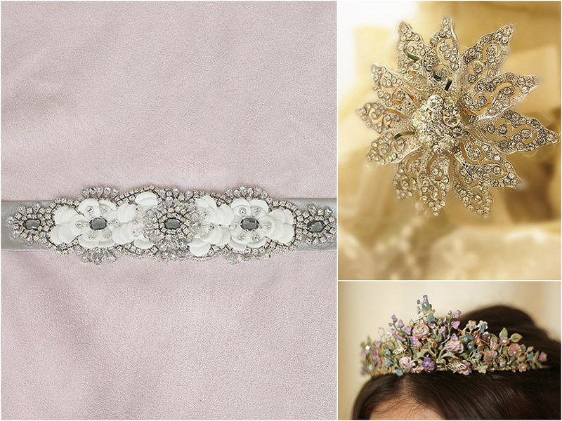 Jeweled Flower Accessories