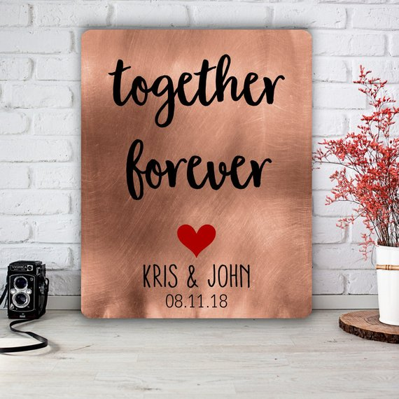 metal print wedding guestbook