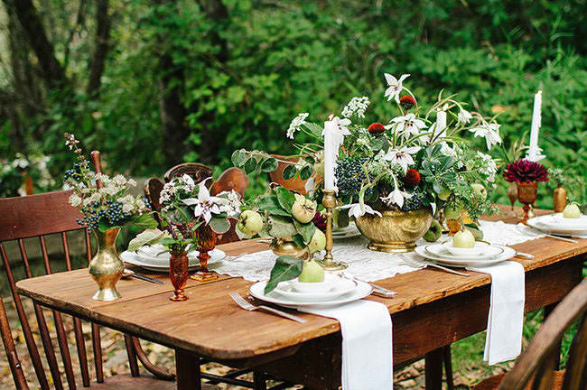 Natural Wedding Tablescape