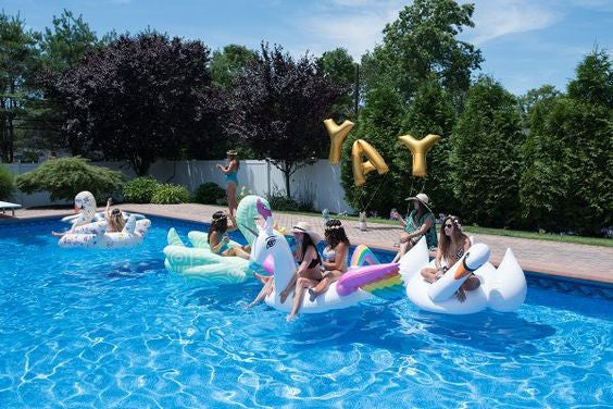 Summer Bachelorette Party Ideas - Pool Floats