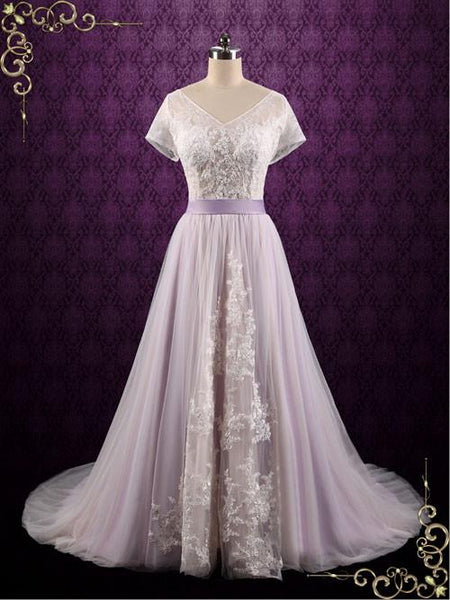 Pretty In Purple Wedding Gowns Ieie Bridal