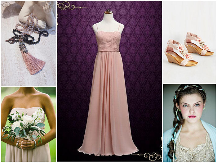 Romantic Bohemian Bridesmaid Dress