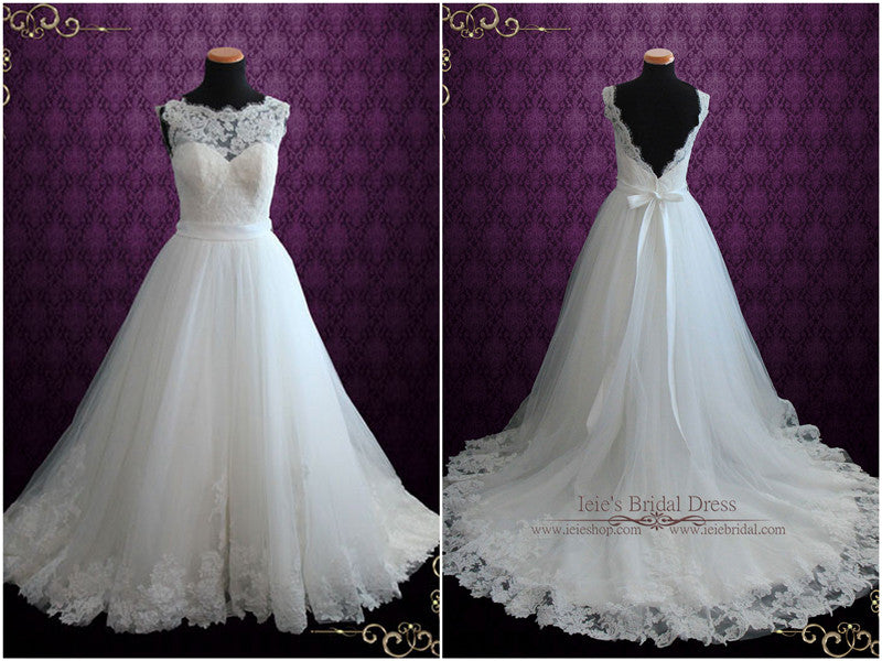 Lace Open Back Ballgown