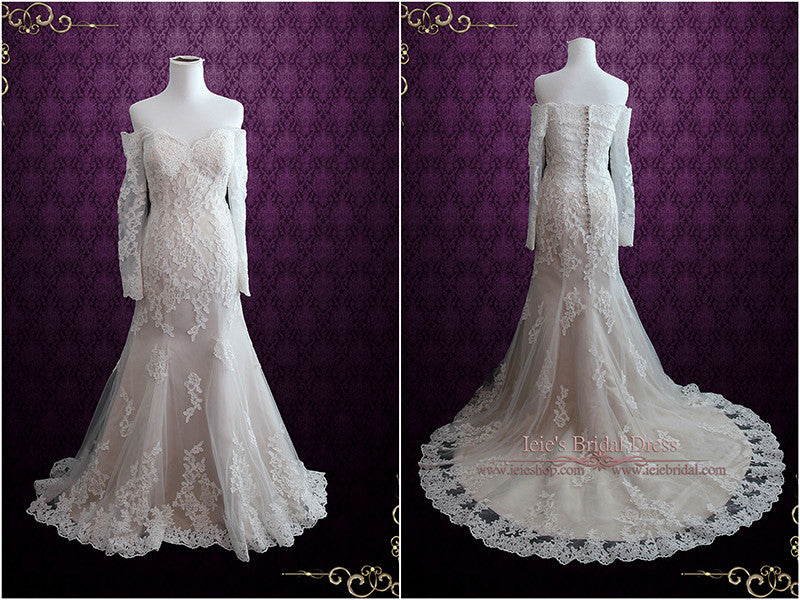 Sexy Vintage Style Lace Wedding Dress