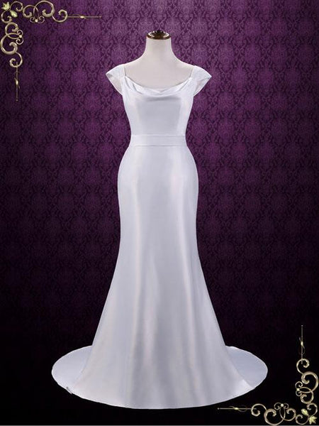 Simple Elegant Satin Wedding Dress