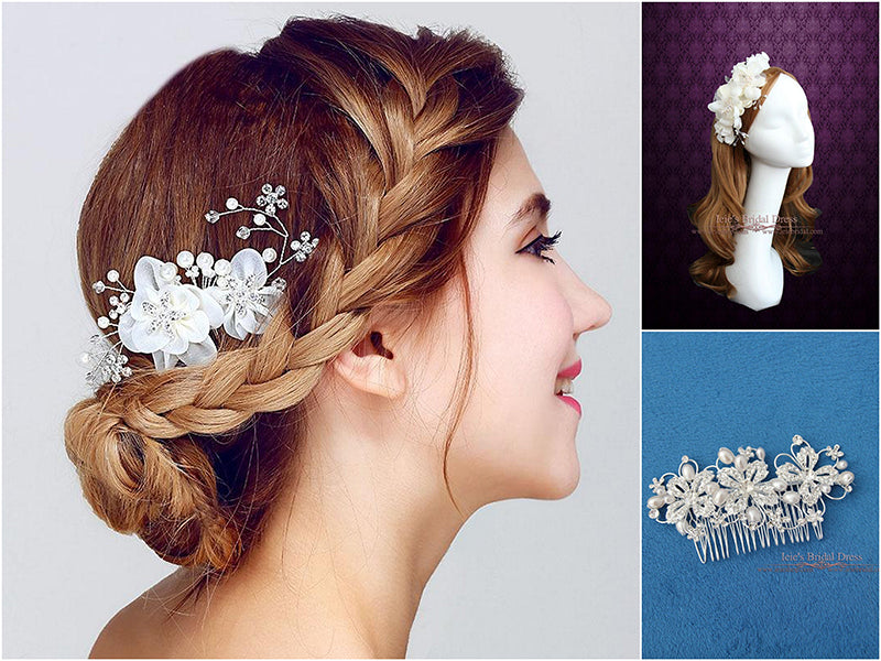 Spring Bridal Hair Combs