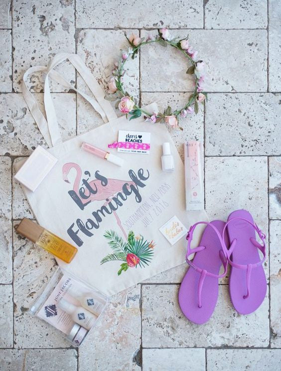 Summer Bachelorette Party Idea - Tote Bag Favors