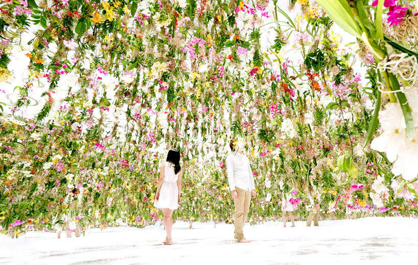 Over-the-top Flower Installations
