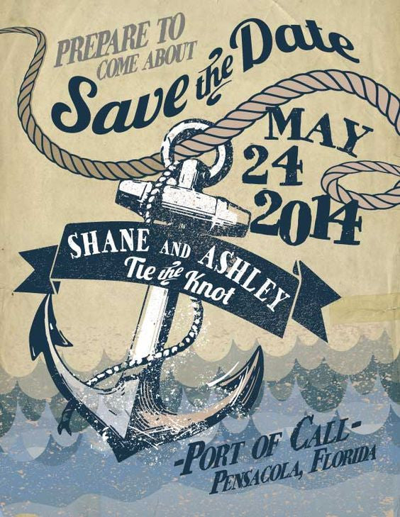 Nautical Theme Save-the-Date