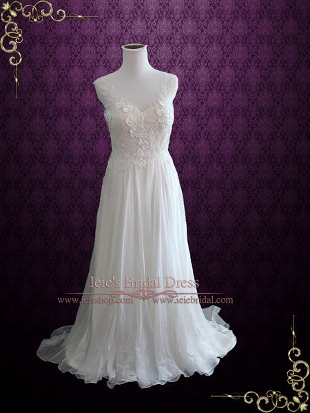 Summer Garden Silk Chiffon Wedding Dress