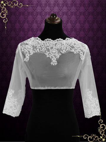 Lace Bolero Jacket with Sleeves | SG1005