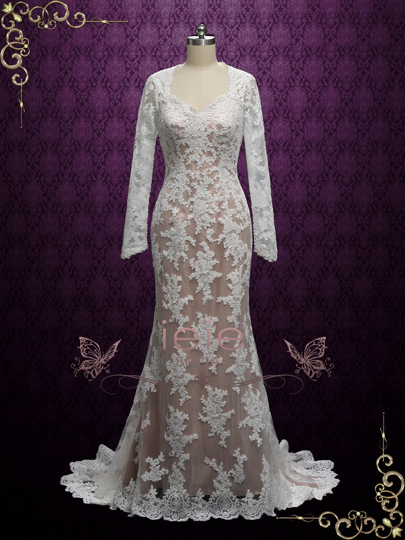 Vintage Fit and Flare Wedding Dress