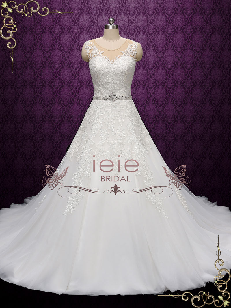 Convertible Lace Wedding Dress with Detachable Skirt | Annise