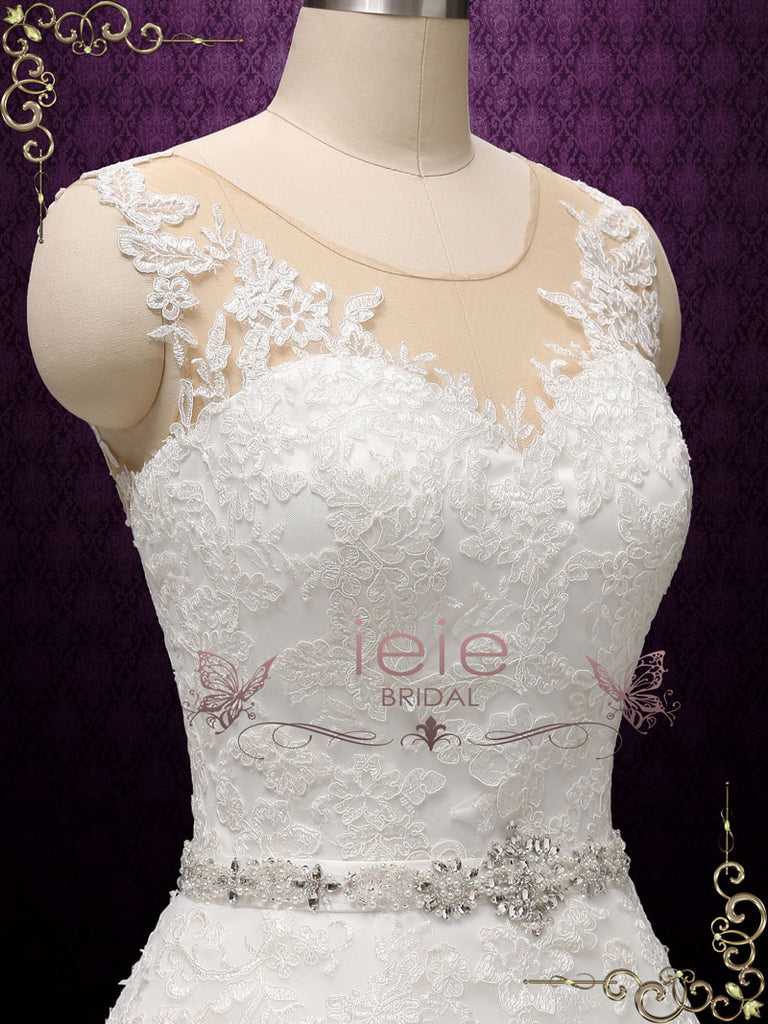 Convertible Lace Wedding Dress With Detachable Skirt Annise