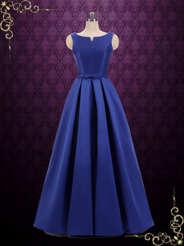 Modest Simple Elegant Floor Length Formal Dress