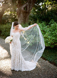 Cathedral Length Eyelash lace Mantilla Bridal Veil