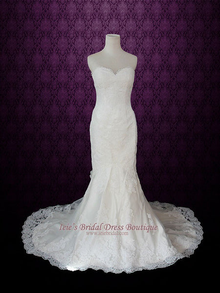 Strapless Sweetheart Lace Mermaid Wedding Dress | Diane