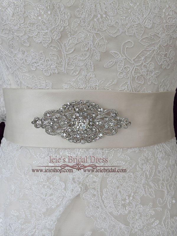 Crystal Jeweled Wedding Brooch