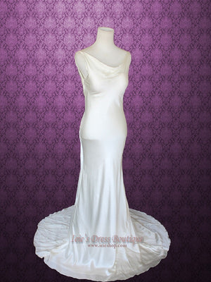 Retro vintage hollywood  style wedding dress