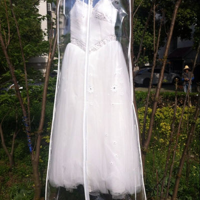 Extra Long Full Length Clear See Through Wedding Dress Garment Bag