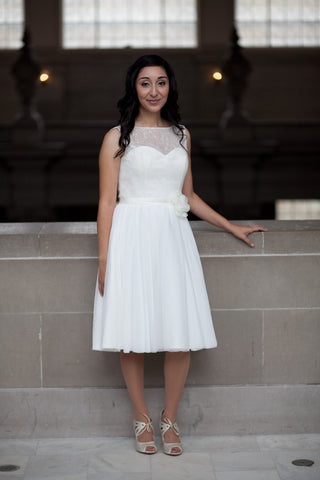 Liz's Short Wedding Dress