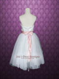 Ballerina Tutu Short Tea Length Tulle Wedding Dress Bridesmaid Dress