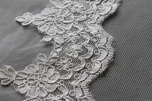 Waltz Length Lace Mantilla Wedding Bridal Veil 72''