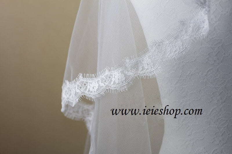 Cathedral Length Eyelash lace Mantilla Veil