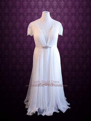 Grecian whimsy wedding dress Marsewi