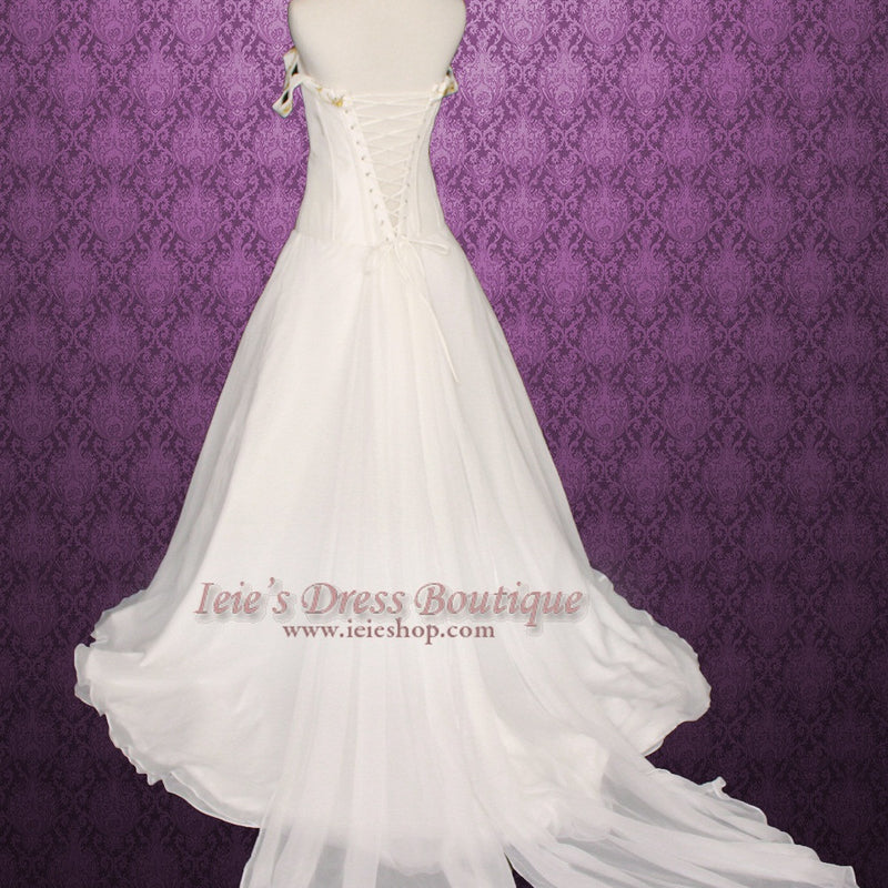 Taylor Swift Love Story Wedding Dress - Detachable Train