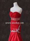Strapless Red Mermaid Wedding Dress | Olivia