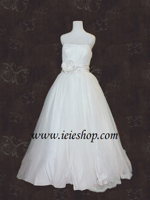 asymetrical one shoulder ball gown wedding dress