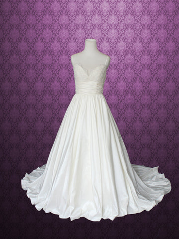 Ready to Ship White Ball Gown Style Wedding Dress