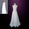 Simple Yet Elegant Slim A-line Beach Wedding Dress with Sweetheart Neck Line and Low Back