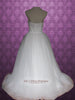 Strapless English Princess Tulle A-line Wedding Dress | Emily