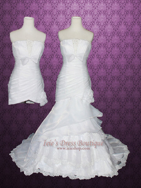 Convertible 2 Piece Detachable Mermaid Wedding Gown
