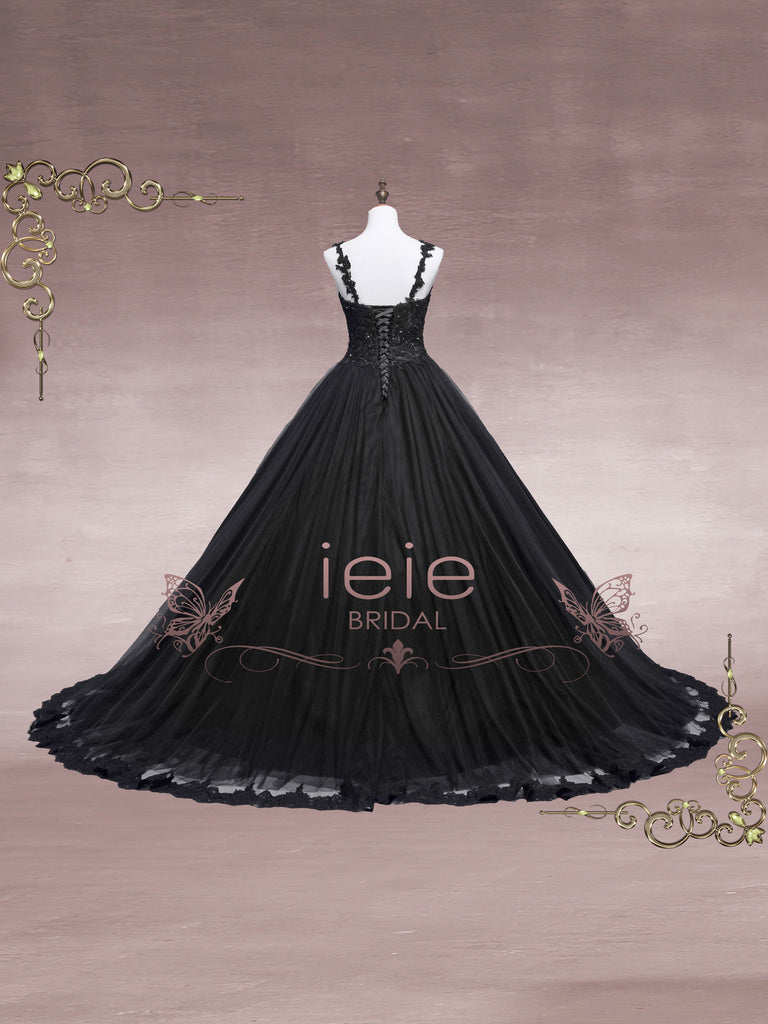 Black Lace Ball Gown Wedding Dress - Faith by ieie Bridal